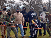 redding paintball group party